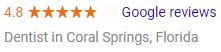 Google Reviews 4.8/5